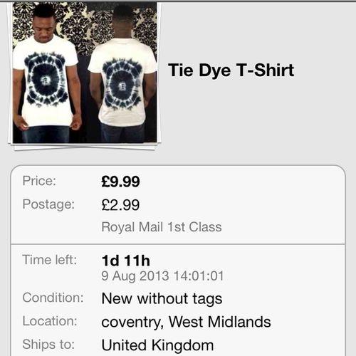 For Sale on Ebay Tye Dye! DipDye Tshirt