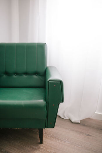 Green Sofa At Home