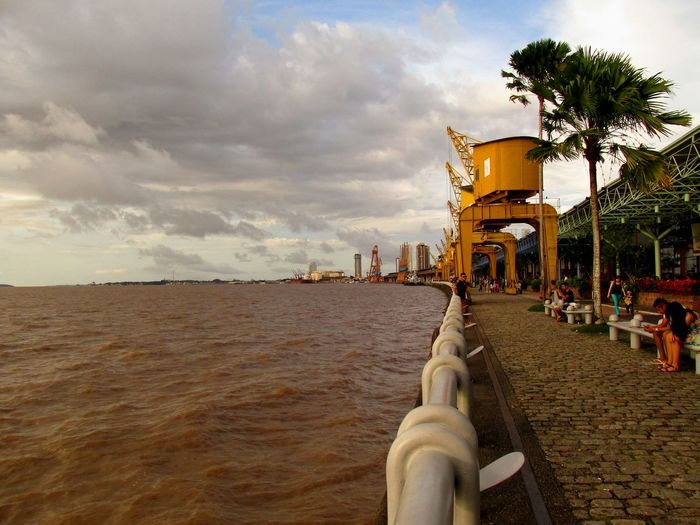 Cloud - Sky Beach Incidental People Sky Outdoors Architecture Riverside Belém Do Pará Estaçãodasdocas Dockside View Cityscape EyeEmNewHere EyeEm Best Shots - Architecture The Great Outdoors - 2017 EyeEm Awards