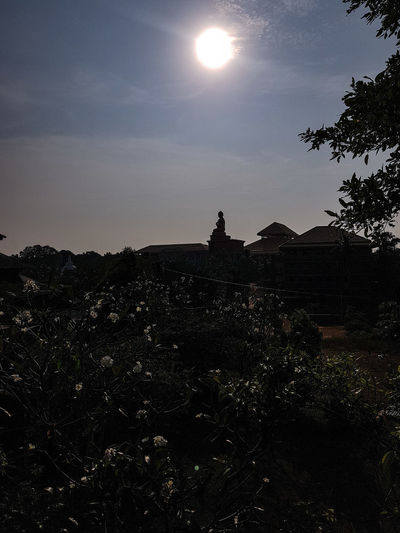 Lord Buddha Silhouette Sky Astronomy Moon Sun Scenics Nature Outdoors Beauty In Nature Landscape HUAWEI Photo Award: After Dark #urbanana: The Urban Playground My Best Travel Photo A New Beginning