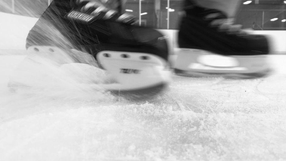 Monochrome Photography Blurred Motion Lifestyles Close-up Speed Hockey Skate Ice Skating Ice Skates Capturing Movement Ice Capturing Motion