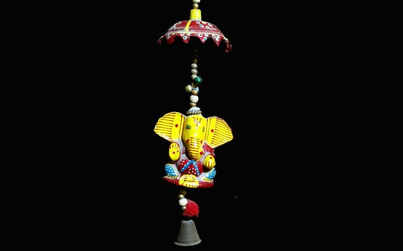 | Ganesha | TheFoneFanatic PhonePhotography Mobilephotography Nokia808 Bokeh Colorful Ganesha Indian Gods Black Background Multi Colored Hanging Studio Shot Celebration Close-up