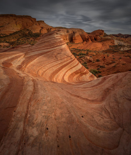 Rock formations at valley of fire state park