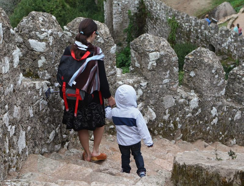 RePicture Motherhood Castle Moors Castle Portugal Climbing Stairs What I Value
