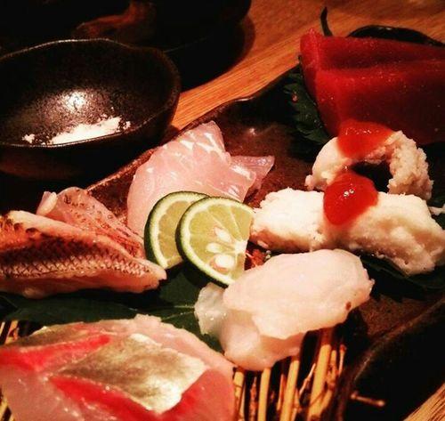 接待中…少し疲れ中… Taking Photos Japanese Food Sasimi EyeEm Gallery Food My World Of Food