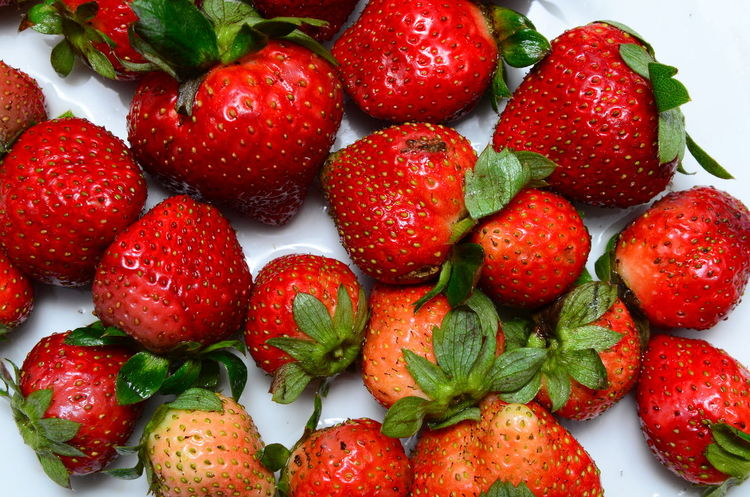 Food And Drink Fruit Healthy Eating Juicy Organic Red Ripe Strawberry