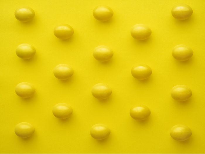 Full frame shot of yellow pencils