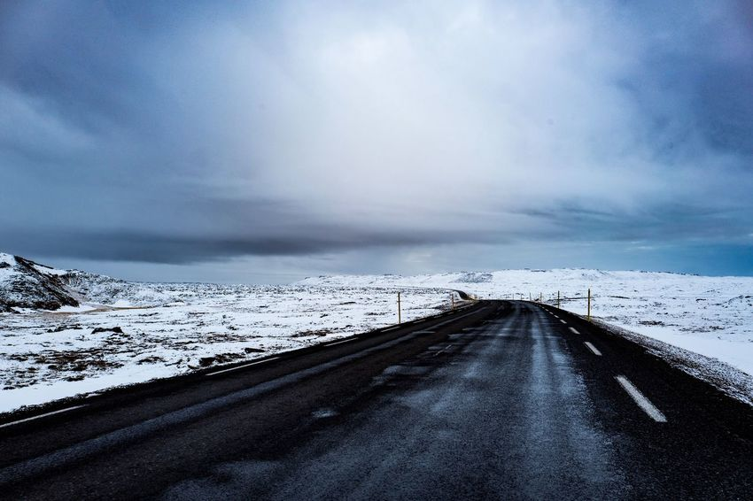 Streets of Iceland Frozen Iceland Nature Travel Landscape Outdoors Snow Street Travel Destinations