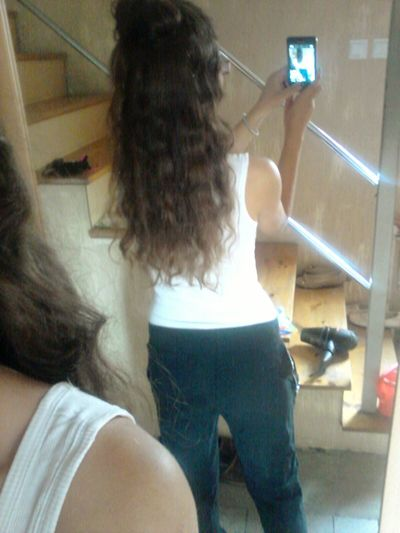 Longhair Love It Curly Hair Mirror Girl Beautiful