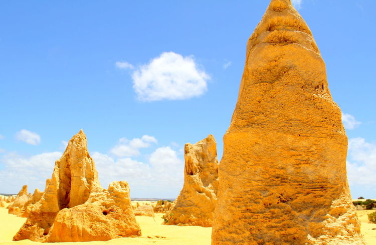 Cervantes Pinnacles Western Australia Beauty In Nature Day Limestone Rocks Nature Outdoors Scenics Sky Sunlight Tranquil Scene Tranquility Yellow