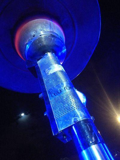 Perspective Walking Around Close-up Lighting Equipment Lights In The Dark Metal Night