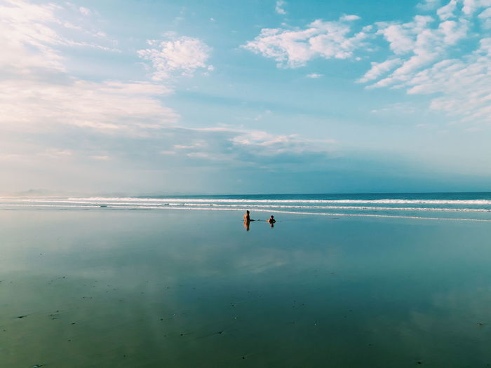 Beach Beauty In Nature Cloud - Sky Horizon Horizon Over Water Land Nature Outdoors People Reflection Scenics - Nature Sea Sky Tranquil Scene Tranquility Two People Water