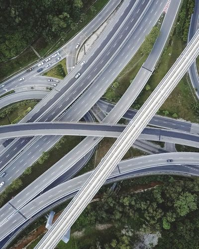 Aerial View Of Multiple Lane Highway