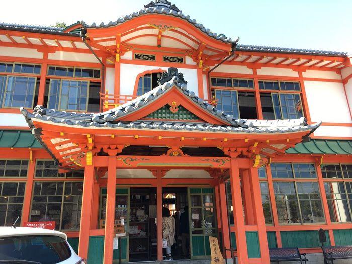 武雄温泉新館 Takeo 武雄温泉 Architecture Building Exterior Built Structure Real People Day Low Angle View Men