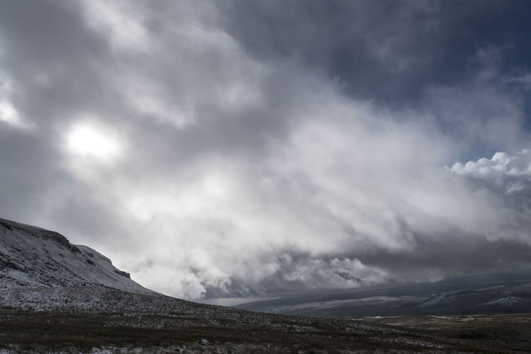 Pen Y Ghent Beauty In Nature Cloud - Sky Day Landscape Mountain Nature No People Outdoors Scenics Sky Snow Storm Tranquil Scene Tranquility Weather Yorkshire Dales