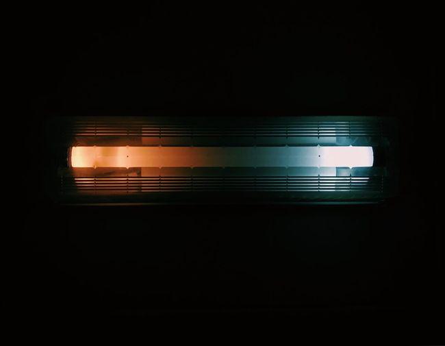 Illuminated light at night