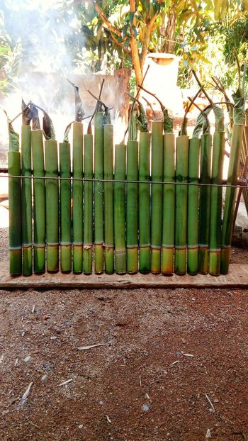 Food of lemang using bamboo Cook  Bamboo Sweet Ready-to-eat Food And Drink Cooking Close-up Cook  Freshness Day