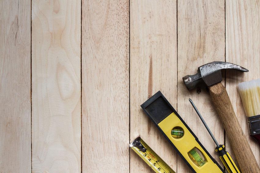 tool kit on wood Construction DIY Industrial Recreation  Renovation Work Bitcoin Handyman Kit Tool Tool Kit Toolbox Wrench