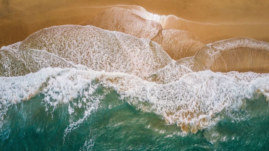 Invasion of the blue Coastline Nature No People Water Outdoors The Great Outdoors - 2017 EyeEm Awards Waves Landscape DJI Mavic Pro Dji Drone  Color Contrast Tide Power In Nature Beach Sea Scenics Ocean Aerial View Vertical Shot Seaside Fresh on Market 2017 Lost In The Landscape Perspectives On Nature Fresh on Market 2017