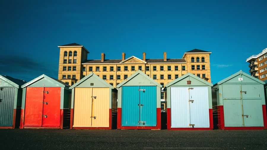 Hove colors Hove Brighton Colors Outdoors Blue Sky Sand Beach Day Built Structure No People Architecture