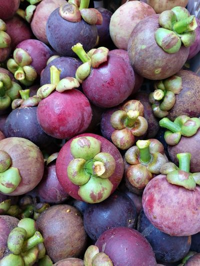 Mangosteen Queen Of Fruits Thai Fruit Agriculture Backgrounds Full Frame Supermarket Fruit Close-up Food And Drink For Sale
