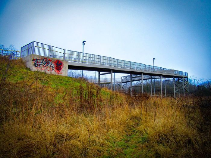 Footpath over Railway Line GWR Swindon Built Structure Outdoors No People Clear Sky Nature Architecture Bridge - Man Made Structure Day Sky
