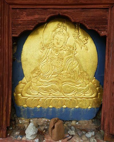 Gold Slate Guru Padmasambhava Bhutan Bhutanese Architecture Buddhism Culture Dungtsemonastery Bhutanese Monastery Bhutan_ig Gururinpoche