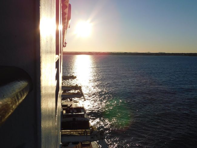 Taking Photos Enjoying Life Sea Horizon Over Water Nature Water Sky Sunrise Over Water No People Scenics Beauty In Nature Outdoors Day Reflection Cruising Travel Destinations Geraldton Australia 3XSPUnity