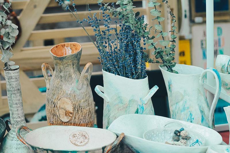 Blue Bluecolor Decor Decoration Design Glass Glass - Material Green Lavanda Lavander Lavander Flowers Nature Photo