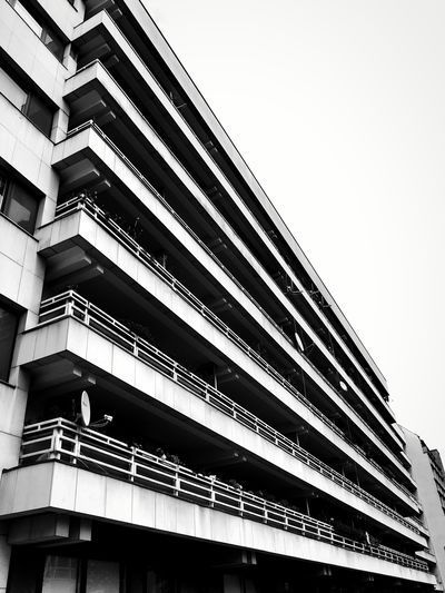 Blackandwhite Urban Architecture Balconies Lines And Angles Perspectives And Dimensions Lookingup