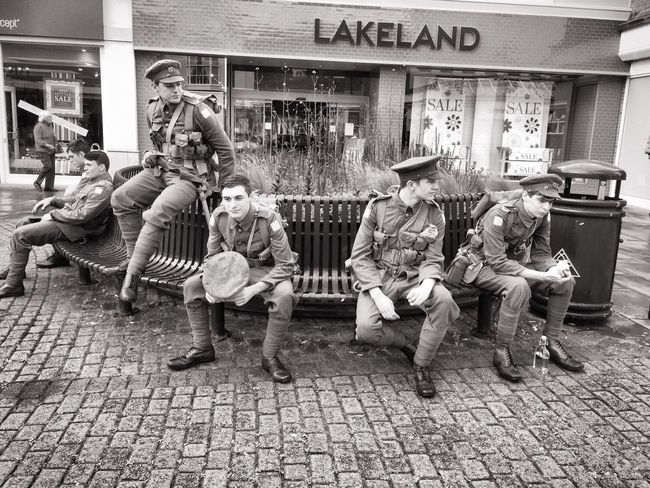 Old George Mall The Somme 1916 World War 1 Ghosts Soldiers Re-enactment Battalion 1st Battalion Hampshire Regiment Wearehere City Centre People And Places