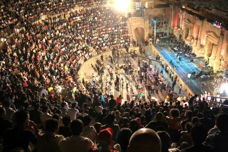 For The Love Of Music 2012 at Jarash historical city in Jordan Party Music <3 Jarash Jarash-jordan Festival