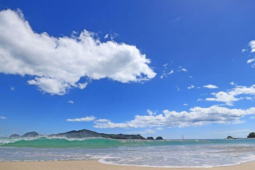 まだまだ夏… Water Sea Beach Blue Sky Beauty In Nature August August 2016 Seascape