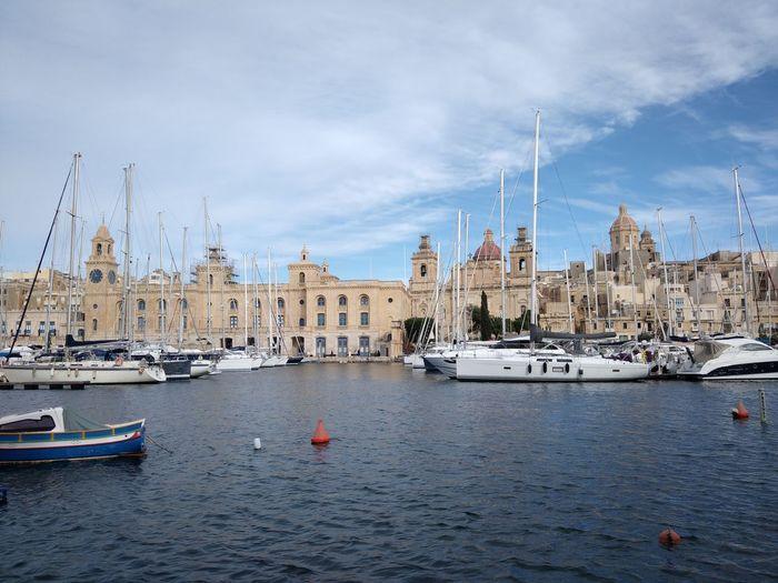 Malta Senglea Mediterranean  Mediterranean Sea Nautical Vessel Transportation Mode Of Transportation Water Sea Moored Day Outdoors