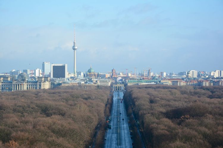 View from berlin victory column