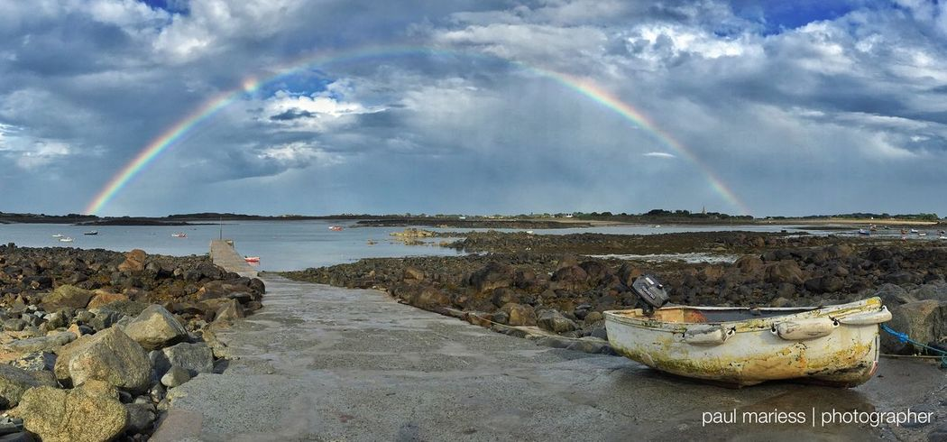 Rain Rainbow Clouds And Sky Eye4photography  EyeEm Best Shots Sea And Sky EyeEm Nature Lover Landscape_Collection Guernsey EyeEm Best Shots - Landscape Coastline Weather Eye4photography  Eyem Best Shots Water_collection Clouds Beautiful Clouds & Sky Blue Wave