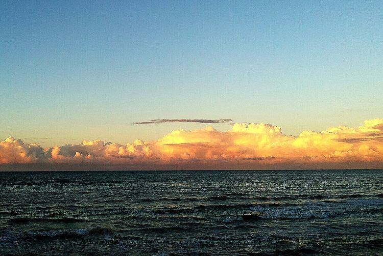 Seascape Sea And Sky Cold Sea Octobersea Orangeclouds No People Beauty In Nature Beauty In Nature, Nature Photography