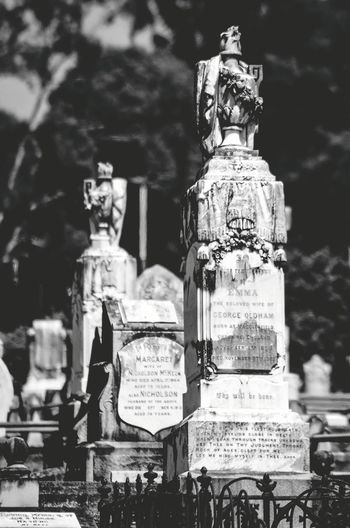 Graveyard Beauty Nikon D5100  Cemetery Photography Weathered Stone No People Many Objects Black & White Memorial Outdoors