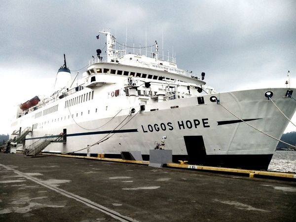 Finally!!! We visited logos hope the largest bookfare ship Taking Photos Subic Bay LogosHope