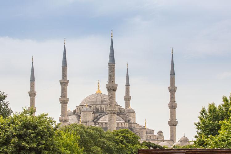Blue mosque against sky