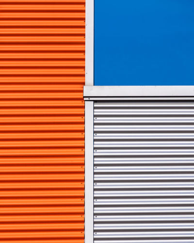 Archidetail Minimalism Minimalist Photography  Fujix_berlin Ralfpollack_fotografie Architecture Blue Built Structure No People Wall - Building Feature Day Building Exterior Outdoors Pattern Metal Building Backgrounds Striped Corrugated Iron Iron Close-up Corrugated