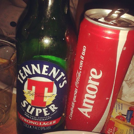 Tennents Beer Cocacola Amore love tagforlife photo picture picoftheday instalike tagforlife photo red me summer my