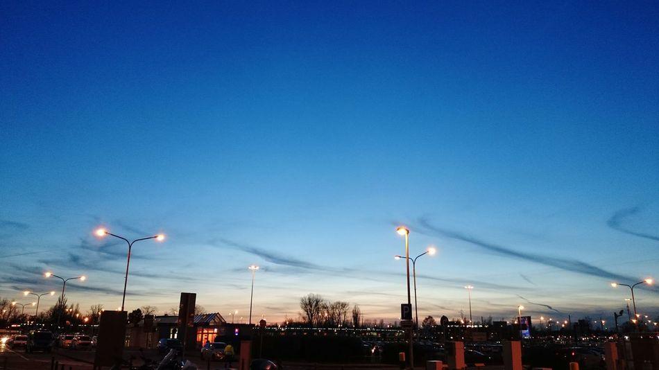 Berlin Sunset Airport Schönefeld Airport
