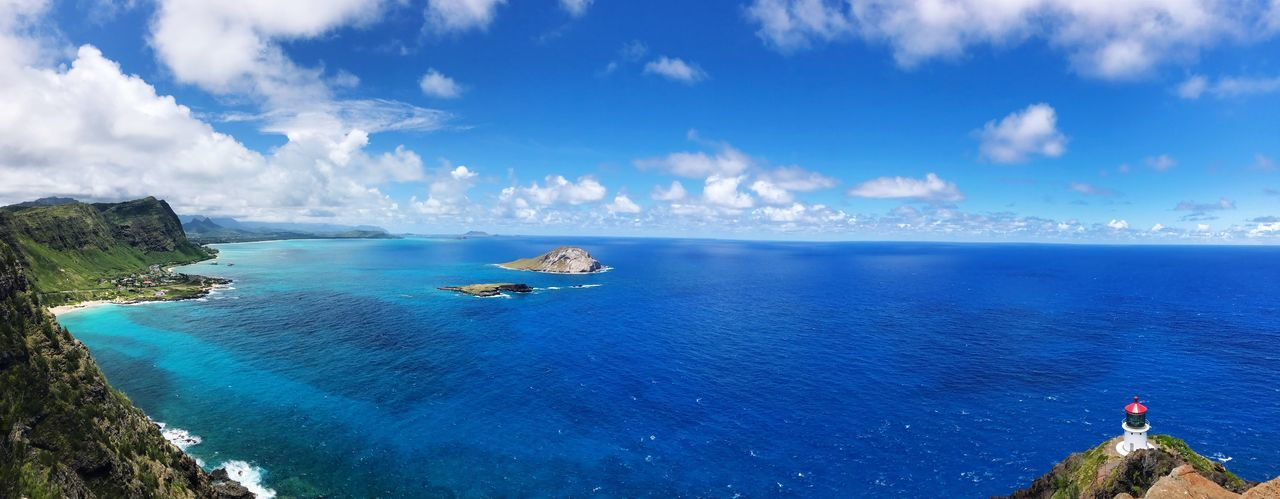 Live For The Story Sea Sky Water Nature Beauty In Nature Scenics Blue Horizon Over Water Tranquility Cloud - Sky Tranquil Scene Idyllic Day Outdoors Rock - Object No People Island Honolulu  Hawaii Oahu