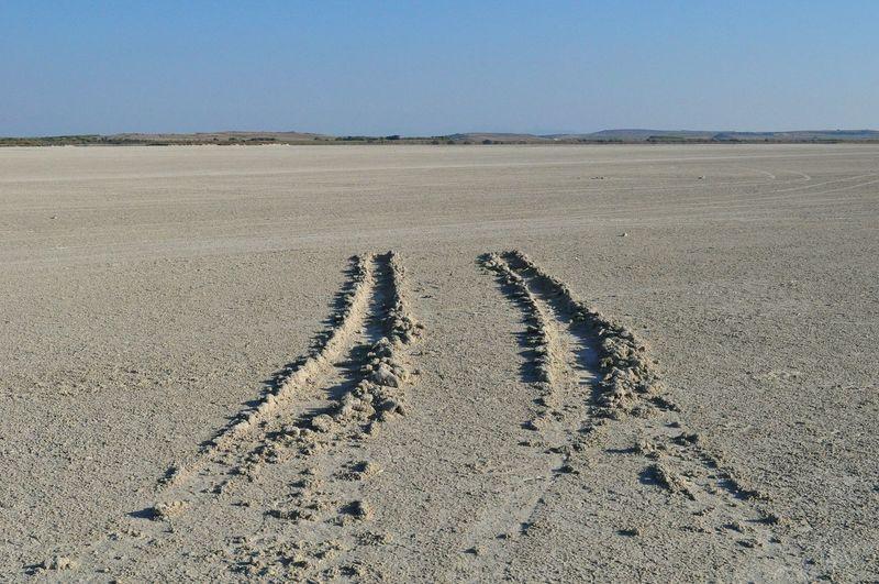 Text on sand