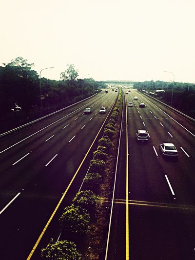Highway Traveling Taking Photos Holiday