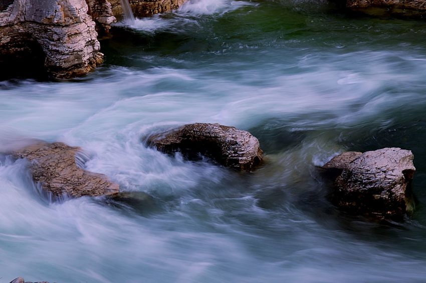 River Long Exposure EyeEm Selects Water Nature Motion Beauty In Nature Solid Rock Rock - Object High Angle View