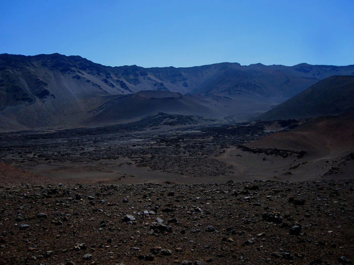 Hawaii Maui Mountain Scenics - Nature Landscape Environment Sky Tranquil Scene Beauty In Nature Tranquility Land Desert Non-urban Scene Mountain Range Nature Remote Clear Sky Arid Climate Physical Geography No People Extreme Terrain Climate Outdoors