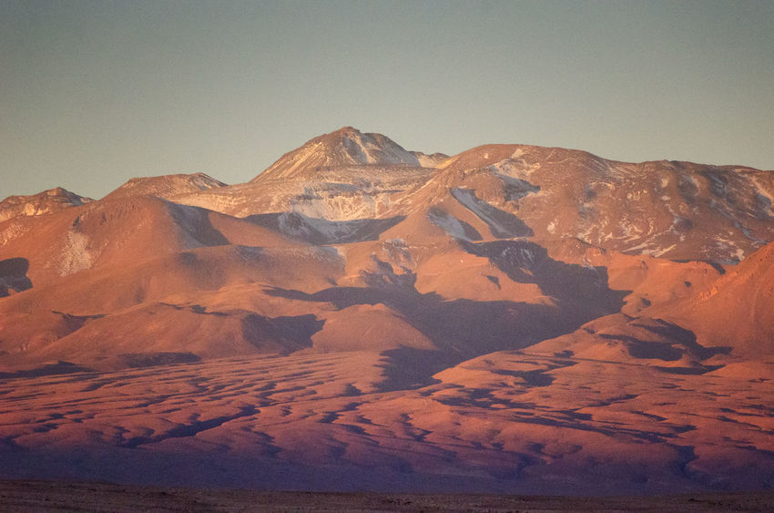 Scenics - Nature Mountain Tranquil Scene Beauty In Nature Tranquility Landscape Environment Sky No People Nature Desert Rock Physical Geography Clear Sky Idyllic Snowcapped Mountain Remote Geology Arid Climate Mountain Peak Mountain Range Atacama Desert Atacama / Chile 🇨🇱