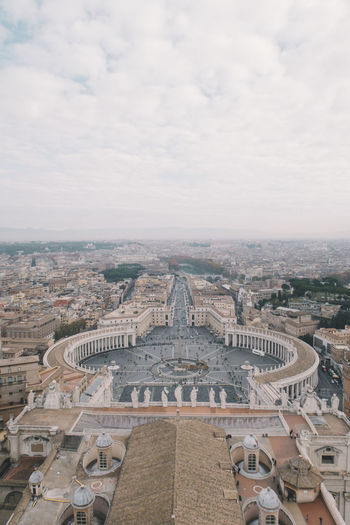 Vatican Ancient Ancient Civilization Architecture Building Exterior Built Structure City Cityscape Cloud - Sky Day High Angle View History Nature No People Outdoors Place Of Worship Sky Spirituality Tourism Travel Destinations